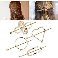 Fascigirl Women Barrette Geometric Pattern Hair Clip Hair Pin Hair Accessories