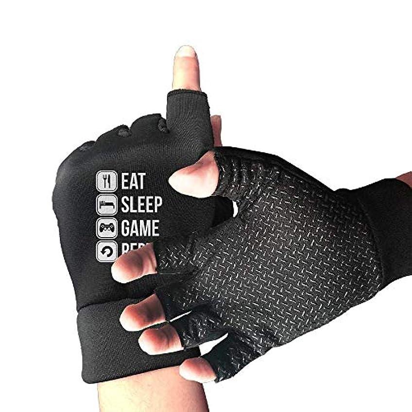 悪意お香選ぶサイクリング手袋睡眠ゲームを繰り返す男性/女性のマウンテンバイク用手袋ハーフフィンガースリップ防止オートバイ用手袋