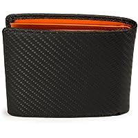 [レガーレ] 隠しポケット付き カーボンレザー 二つ折り財布 カードたくさん入る 5色 プレゼント ギフト
