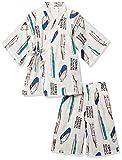 [ノアワールド] 新幹線甚平スーツ TR9-4738、新幹線甚平スーツ ボーイズ ターコイズ 日本 110 (日本サイズ110 相当)