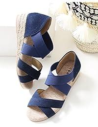 (コーエン) COEN 靴 シューズ サンダル ジュート×デニムエスパウエッジサンダル 76826008027 レディース