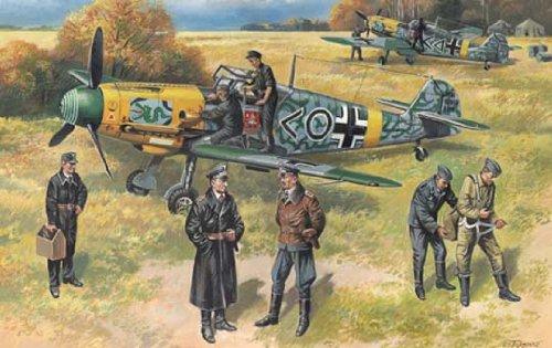 1/48 独・Bf109F-2 戦闘機 (パイロット・地上要員付き)