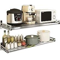 304ステンレス鋼電子レンジラック、キッチンラック - 安い、ディスカウント価格壁オーブン収納ラック - 高耐荷重/清掃が簡単/マルチサイズ