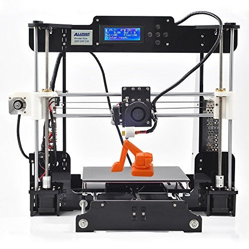 ALUNAR DIY未組立 Reprap Prusa i3 3Dプリンターキット 組立てビデオSDカード付属 フィラメント(PLA)少量同梱 (M505)