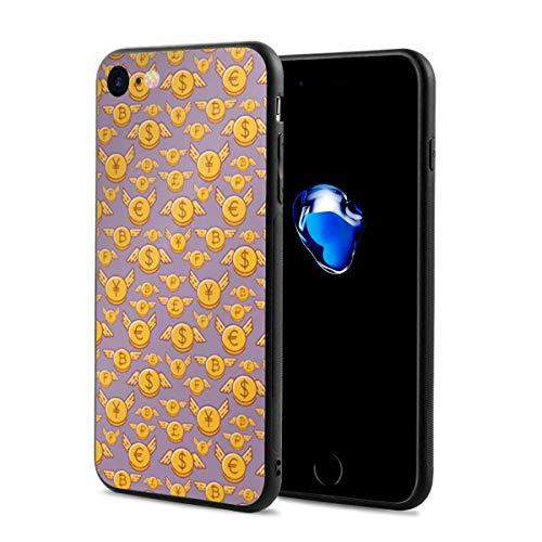 スマホケース ビットコイン 金柄 スマホカバー Iphone7 Iphone8 対応 すり傷防止 耐衝撃性