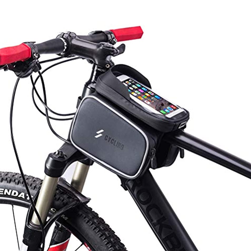 従事するスプリットフェデレーションRaten 自転車ホルダー 防水自転車フレームバッグ 携帯電話ケースバッグ6.0タッチスクリーン 自転車サイドポーチ 自転車バッグ 防水自転車バッグ 6.0タッチスクリーン サイクリングフロントチューブバッグ スマホホルダー ケース フレームバッグ フロントバッグ 防水 バイク スマホホルダー バイクスタンド スクーター 角度転換 転落防止 簡単 防水 防塵 強力固定マウントキット 衝撃緩衝 多機種対応 TPU イヤホン穴付