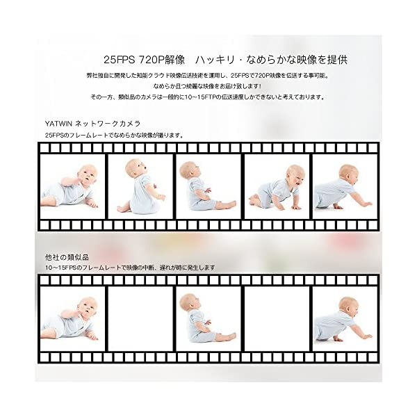 ネットワークカメラ YATWIN WIFI 防...の紹介画像8