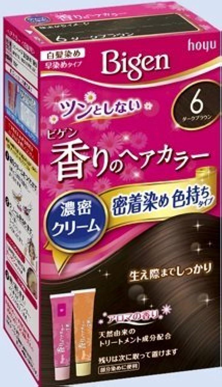 ファックスせっかちむちゃくちゃビゲン 香りのヘアカラー クリーム 6 ダークブラウン × 10個セット