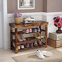 靴ラック天然木のシンプルな靴のブーツラックのストレージオーガナイザーホルダーマルチレイヤの変更靴のスツール多機能ストレージシェルフ