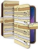 Galaxy S10+ SC-04L ケース 手帳型 ねこ ボーダー クリーム 猫 猫柄 動物 スマホケース ギャラクシーS10プラス エス10 手帳 カバー GalaxyS10plus sc04l sc04lケース sc04lカバー ぬこ 癒し 胴長 にゃんこ [ねこ ボーダー クリーム/t0757d]