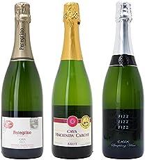 シニアソムリエ厳選 直輸入 スパークリングワイン3本セット((W0AFC5SE))(750mlx3本ワインセット)