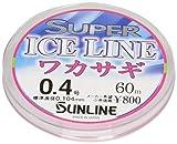 サンライン(SUNLINE) ナイロンライン スーパーアイス ワカサギ 60m 0.4号
