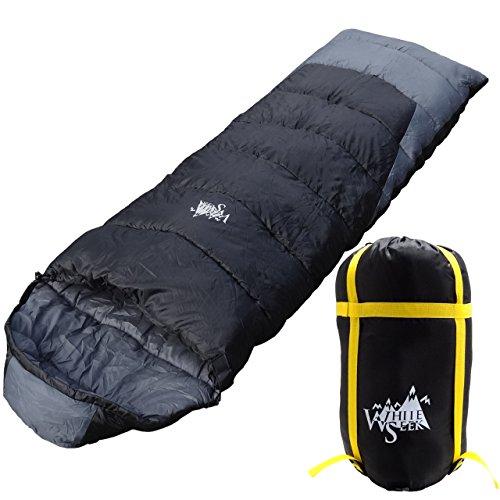 丸洗いOK White Seek 寝袋 シュラフ 封筒型 耐寒温度 -10℃ コンパクト収納 オールシーズン