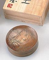 竹中銅器 北村西望作 朱肉入 富士 16-08
