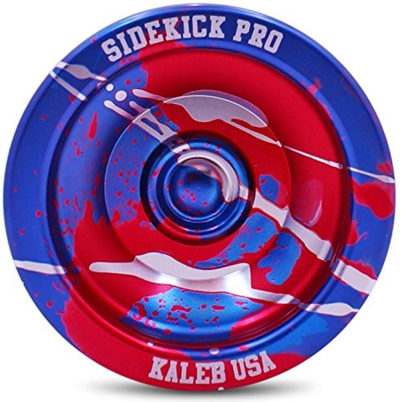 Blue Red Silver Splashes Yo-Yo Professional Aluminum Sidekick Pro YoYo [並行輸入品]