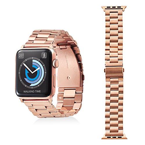 エレコム Apple Watch バンド 42mm ステンレス バンド調整工具付き ピンクゴールド AW-42BDSS3GD