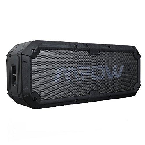 Mpow Plus Bluetooth4.0スピーカー ポータブルワイヤレスス高品質スピーカー モバイルバッテリー機能/デュアルドライバー/マイク内蔵 防滴仕様