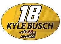 Kyle Busch # 18NASCAR楕円形マグネット