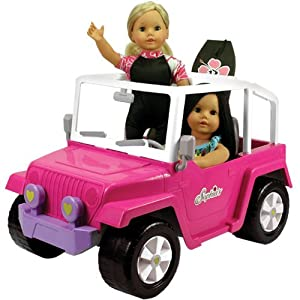 Sophia''s ドール用車両、American Girlのような46cm(18インチ) ドール用4 x 4ビーチ クルーザー。 46cm(18インチ) ドールが2体乗ることができます。ドール、ドール用衣服、ドール用ボディーボードは含まれません。 【並行輸入品】