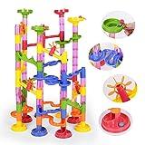 NextX スロープおもちゃ カラフルスロープ くるくるボール 積み木 組立式知育おもちゃ