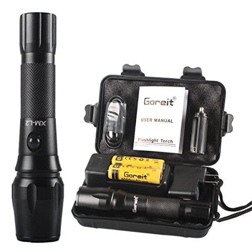 【15%割引 9/13まで 】Goreit® XML L2 LED アウトドア usb 充電 懐中電灯 軍用 充電式 1200 ルーメン 強力 懐中電灯