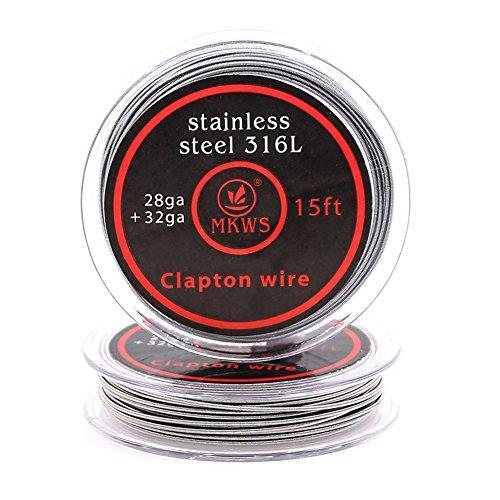 クラプトンワイヤー Stainless Steel 316L Clapton wire