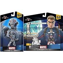Marvel Infinity Super Hero Bundle Avengers Ultron Character Figure & Captain America Civil War Battlegrounds Hero combo Pack