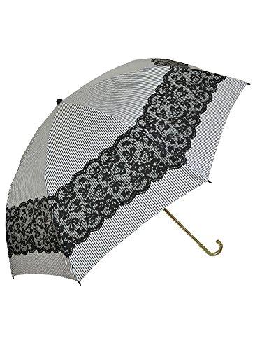 (ピンクトリック)pinktrick 折りたたみ 傘 【81071】ホワイト×ブラック