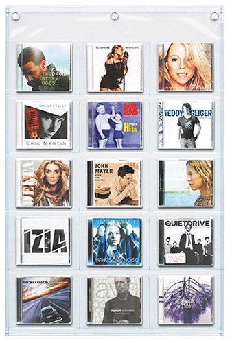 ウォールポケット CDサイズ15ポケット クリア W-178