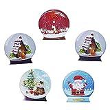 Souarts クリスマス 木製 ボタン 裁縫用品 DIY素材 クリスマスデコレーション アクセサリーパーツ・人形服・子供服ボタン 2穴 ランダムカラー クリスタルボール・ハウス・サンタクロース柄 3cmx2.9cm 30個セット