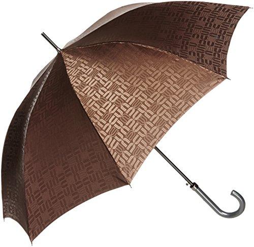 (ムーンバット)MOONBAT ユーバイ ウンガロ 紳士長傘 軽量 ロゴジャガード総柄 耐風傘 21-223-25280-20 24-65 ブラウン 親骨の長さ 65cm
