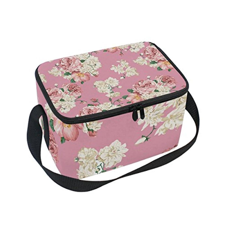 とげのある関数汚物クーラーバッグ クーラーボックス ソフトクーラ 冷蔵ボックス キャンプ用品 花柄 咲き乱れる 保冷保温 大容量 肩掛け お花見 アウトドア