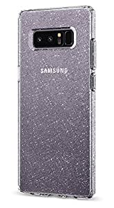 【Spigen】 Galaxy Note 8 ケース, [ TPU ケース ] [ ラメ入り ] [ Qi 充電 対応 ] [ 超薄型 超軽量 ] リキッド・クリスタル ギャラクシーノート8 用 カバー (Galaxy Note 8, グリッター・ クリスタル クォーツ)