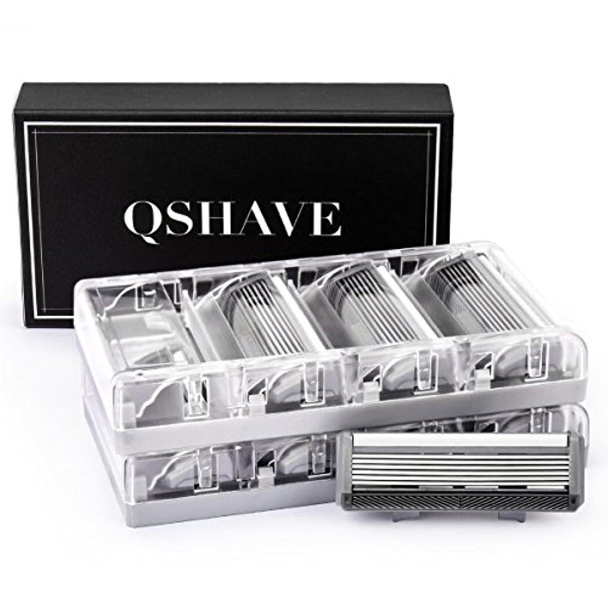 咲く実験的夫婦QSHAVEのX6 (6枚刃) カミソリ替刃カートリッジは、トリマーがドイツ製でQSHAVEブラックシリーズのカミソリにお使いいただけます。 (8つ入り)