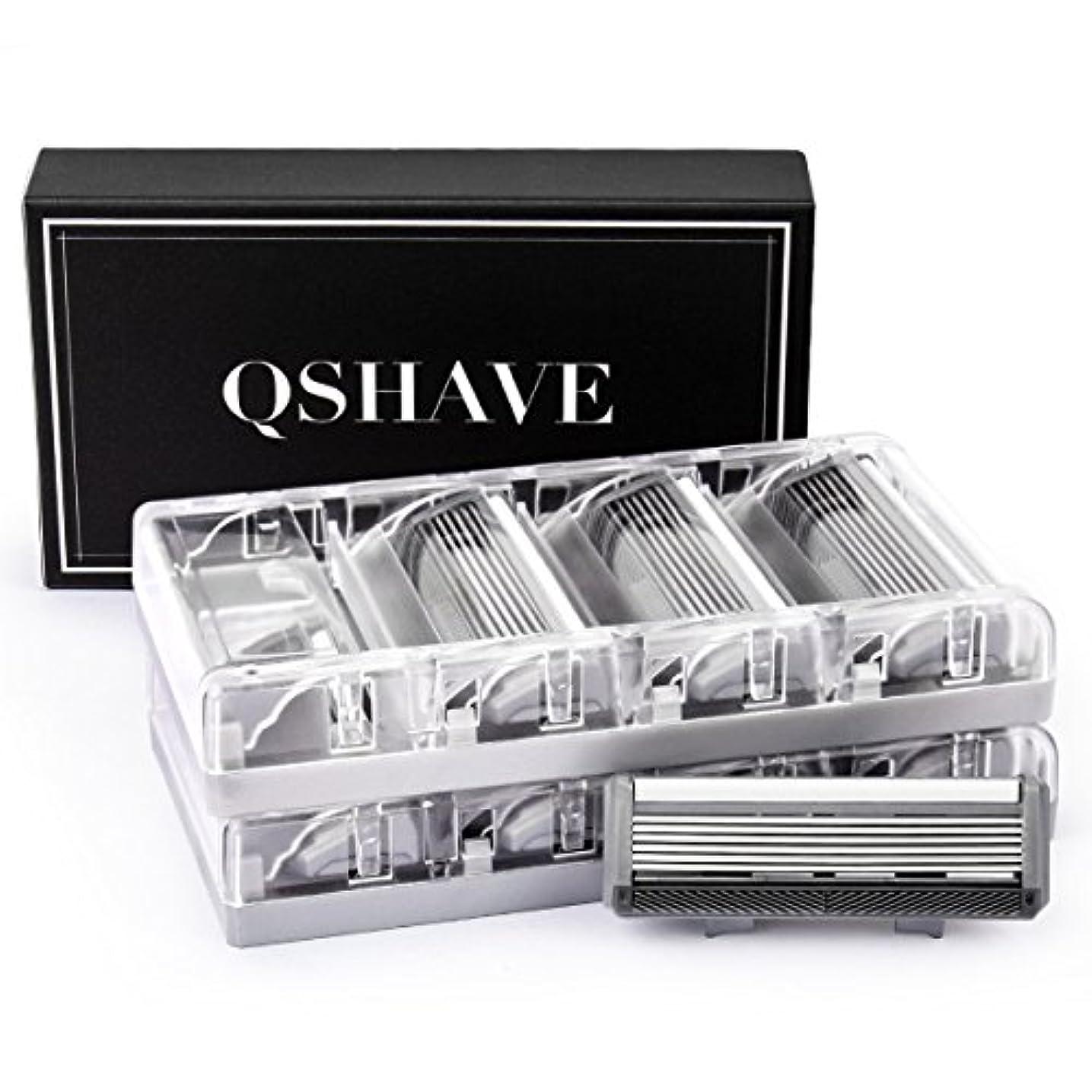 来てクリーム程度QSHAVEのX6 (6枚刃) カミソリ替刃カートリッジは、トリマーがドイツ製でQSHAVEブラックシリーズのカミソリにお使いいただけます。 (8つ入り)