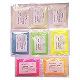 8パック/セット、色8種類の蛍光粉 長持ちの夜光粉 パーティ-装飾用顔料、壁、ガラス、装飾品発光剤、暗くなると自動発光する