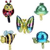 volflashy 風船 バルーン 誕生日 パーティー 昆虫 シリーズ アルミ 箔 ミニ 玩具 子供 5種類