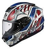 オージーケーカブト(OGK KABUTO)バイクヘルメット フルフェイス AEROBLADE5 VISION(ヴィジョン) ホワイトブルーレッド 570330 M (頭囲 57cm~58cm)