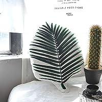 葉枕バックサポートネック休憩枕北欧コットンダブルホームベッドルームベビールームの装飾用の印刷枕を両面 (Color : White, Size : 30x45cm)
