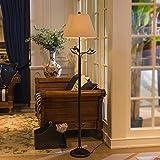 ロービングアイアンレジン彫刻鳥クリエイティブホーム装飾フロアランプ