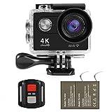 NexGadget アクションカメラ  リモコン遠隔操作可 30m防水 4K  HD 170度広角 バッテリー2個付