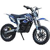 Moto Tec mt-dirt-lithium _ブルー36V 500ワットElectric汚れbike44;リチウムブルー