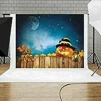Coohole 5x3フィート ハロウィン 3D 背景幕 パンプキン ビニール 写真 ランタン 背景 カスタマイズ写真 背景 スタジオ ブラック LE