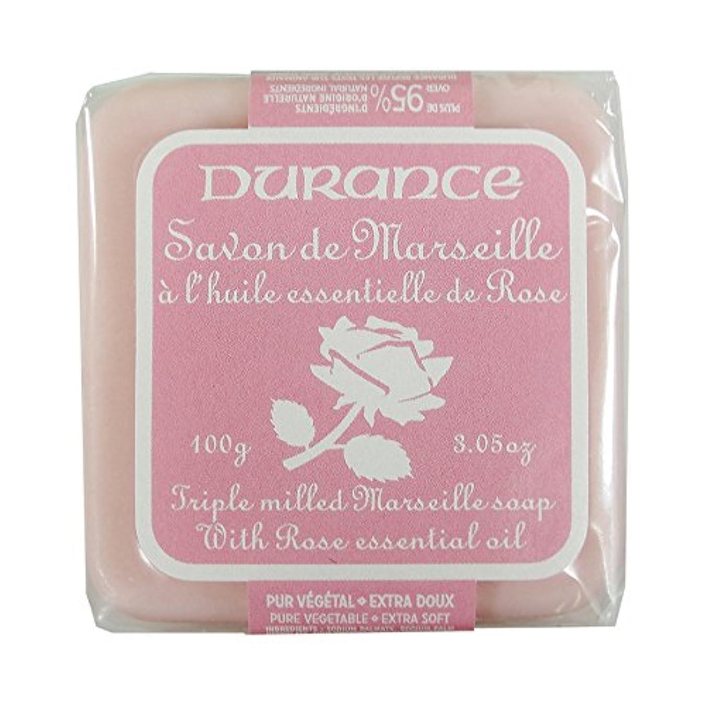 カロリー可決床を掃除するDURANCE(デュランス) マルセイユソープ 100g 「ローズ」 3287570405122
