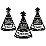 Bigドットの幸せのReunited – Mini円錐学校クラス会Party Hats – Small Little Party Hats – 10のセット