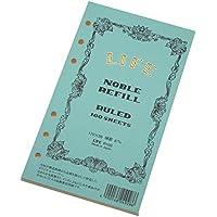 ライフ ノーブル システム手帳 リフィル 横罫 バイブルサイズ R102