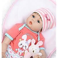 OVERMAL Toy Lifelike人形Rebornベビー人形55 cm新生児キッズガールズPlaymate誕生日ギフト