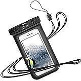 防水ケース スマホ用 iPhone Android に対応 [IPX8認定] 携帯 水中 撮影 タッチ可 風呂 水泳 海 プール 旅行 雨 雪 温泉 釣り 海など適用