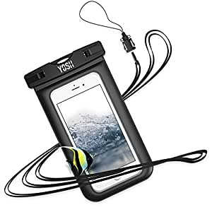 スマホ防水ケース iPhone/Androidに対応 [IPX8認定] 携帯 水中撮影 タッチ可 風呂 雪遊び 水泳 海など適用
