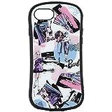 グルマンディーズ Barbie iPhoneSE(第2世代)/8/7/6s/6(4.7インチ)対応 ハイブリッドガラスケース ファッション BAR-15B ブルー